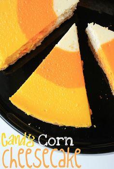 Candy corn cheesecake!