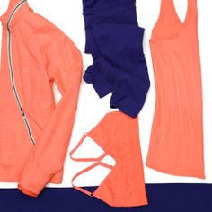 Amalfi Blue + Coral Sizzle | Athleta Spring 2014 Collection
