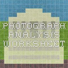 Photograph Analysis Worksheet