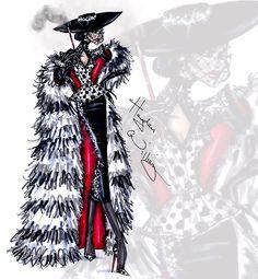 "Cruella de Vil collection by Hayden Williams ""Furociously Fabulous"""