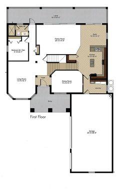Colonade Grand floor plan - First floor