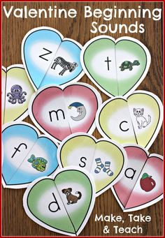 Fun Valentine's Day activity for beginning sounds.