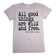 Love! :: Women's Tshirt Thoreau Quote american apparel by happyfamily