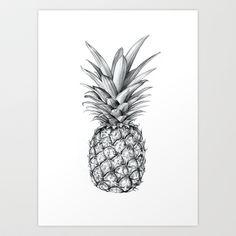 Pineapple Art Print by Sibling & Co. - $18.00