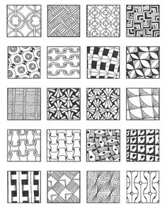 ZENTANGLE PATTERNS grid 7 | Flickr - Photo Sharing!