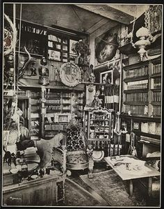 David Belasco's (famous theater producer and playwrite) library, 1909 Hutchinson's Place.