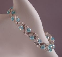 sterling silver wire bracelet handmade by the Siesta Key Bead Shack