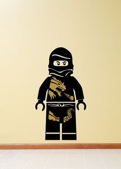 Ninjago Ninja Cole DX Gold and Black Minifigure Vinyl by theccinc