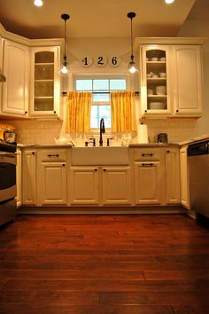 """I like the space above the kitchen sink window to put something there like """"Douglas"""""""