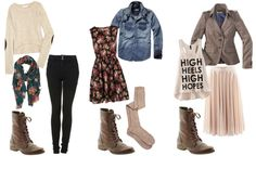 outfits brown  boots