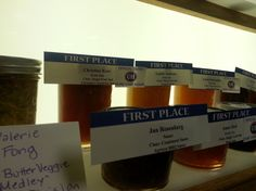 """Photo of first-place jams at the California State Fair. Credit: Kim von Aspern-Parker. Read more on the GenealogyBank blog: """"State Fair Food Fare: Strange Eats & Award-Winning Recipes."""" http://blog.genealogybank.com/state-fair-food-fare-strange-eats-award-winning-recipes.html"""