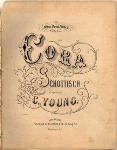 Sheet Music - Cora schottisch
