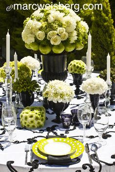 Table-setting at Roger's Gardens