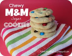 Chewy M Sugar Cookies from: Yummy - Healthy - Easy blog