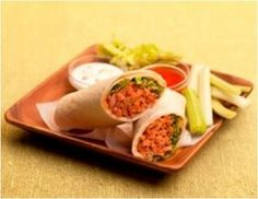 Buffalo Tuna Wrap. I used 1 TLBS Ranch Dressing.I halved the recipe to make a single serving,I kept hot sauce the same, double if making the whole recipe. For crunchier double celery. Would be great as a salad,stuffed in a tomato, or pepper.