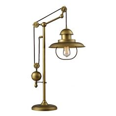 "32"" Farmhouse Antique Brass Table Lamp"