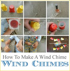 Yogurt Cup Wind Chimes