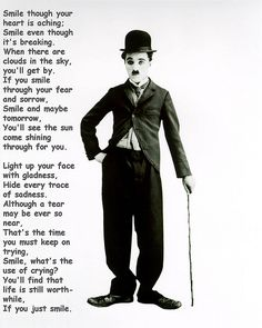 Smile - Charlie Chaplin - Love this song!!