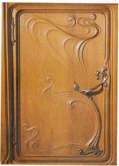 Eugene Gaillard (1862-1933). Vitrine Door Detail. Circa 1900.