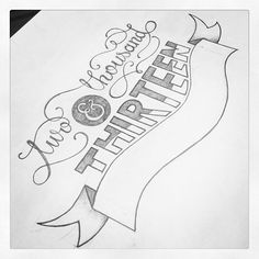2013 hand lettering // typography by keriative, via Flickr