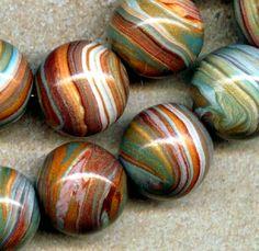 desert wind, robin, polymer clay beads, polym clay