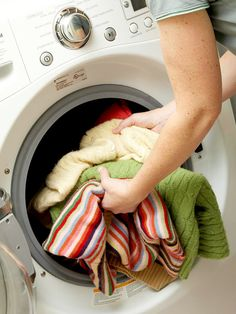 Tips for how to load a washing machine properly.
