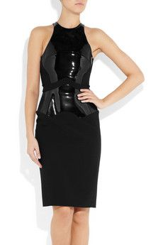 Antonio Berardi Patent Paneled Stretch Dress (Net-A-Porter)