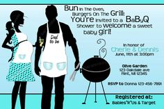 BBQ Baby Shower Printable Invitation. $10.95, via Etsy. Like this idea much better than having an all girls party.