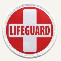 LIFEGUARD RED WHITE Fire and Rescue Heroes 2.5 inch Sew-on Patch Creative Clam - For my Halloween costume