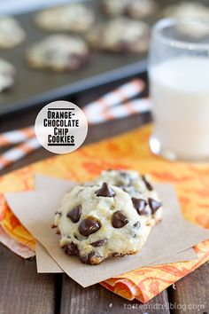Orange-Chocolate Chip Cookies from www.tasteandtellblog.com