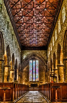 St Machar Cathedral, Interior   Andrew Ramsay - Located Aberdeen Scotland.