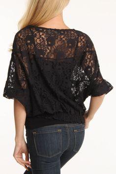 Draped Lace Top