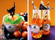 halloween witches, halloween stuff, halloween parties, canning jars, halloween drinks