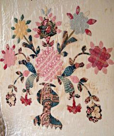 Chintz Applique Quilt Detail Broderie Perse