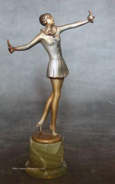An Art Deco Austrian bronze figure by Josef Lorenzl,  circa 1930.