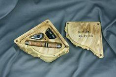Engraved travel shaving kit box men's shaving Razor by cgurnham, $134.99