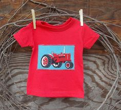 Baby Boys Clothes Red Tractor red T shirt 6 12 by SouthernSister2, $15.00