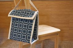 Reusable Lunch Bag - Navy Blue Square. $25.00, via Etsy.