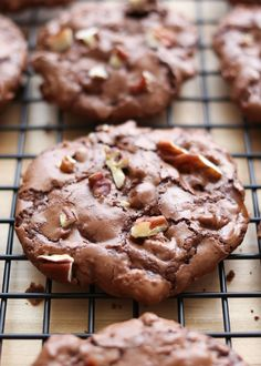 Flourless Chocolate Turtle Cookies by Barefeet In The Kitchen
