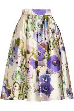 Shop now: Lela Rose Floral Print Skirt
