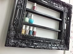 Black Baroque Glam Nail Polish Display by DaintyCreations on Etsy
