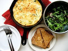 The Bojon Gourmet: Crustless Skillet Quiche with Asparagus and Chevre