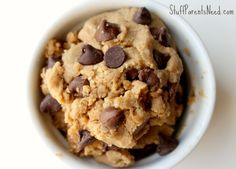 Cookie dough raw, no eggs and I'll sub sunbutter for the pb
