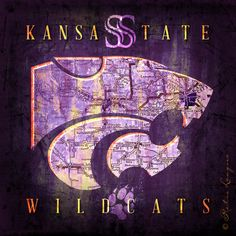Kansas State Wildcats Retro Maps Perfect Alumni by RetroLeague