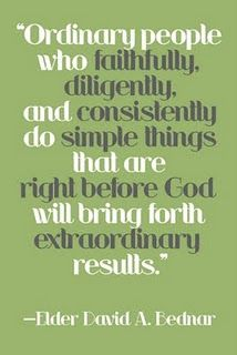 ordinary people.. extraordinary results // quote by Elder David A. Bednar, free print from capital B