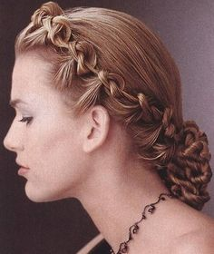 french braids, chignons, curl, braided hairstyles, beauti, fishtail braids, hair style, knots, first dance songs