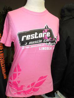 Women's PINK Restore a Muscle Car Shirt! http://cgi.ebay.com/ws/eBayISAPI.dll?ViewItem=310223341705==STRK%3AMESE%3AIT