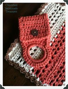 #Crochet-Crochet!! Towel Holder | Cherished Handmade Treasures ✿Teresa Restegui http://www.pinterest.com/teretegui/✿