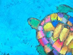 chalk pastels, pastel sea, seas, art lesson, princess artyp, oil pastels, visual art, soft pastels, sea turtles