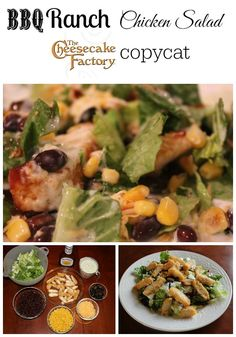 BBQ Ranch Chicken Salad is a copycat of the salad at The Cheesecake Factory.